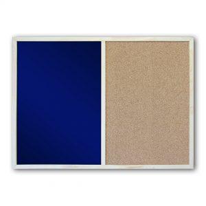 Комбинированная грифельная-пробковая доска 60*80. Синяя